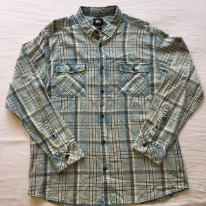 Quiksilver Plaid Button Down Shirt